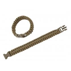Paracord survival bracciale