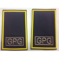 Tubolari guardie giurate blu G.P.G. giallo