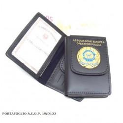 Porta Tesserino Ass.EU Operatori Polizia