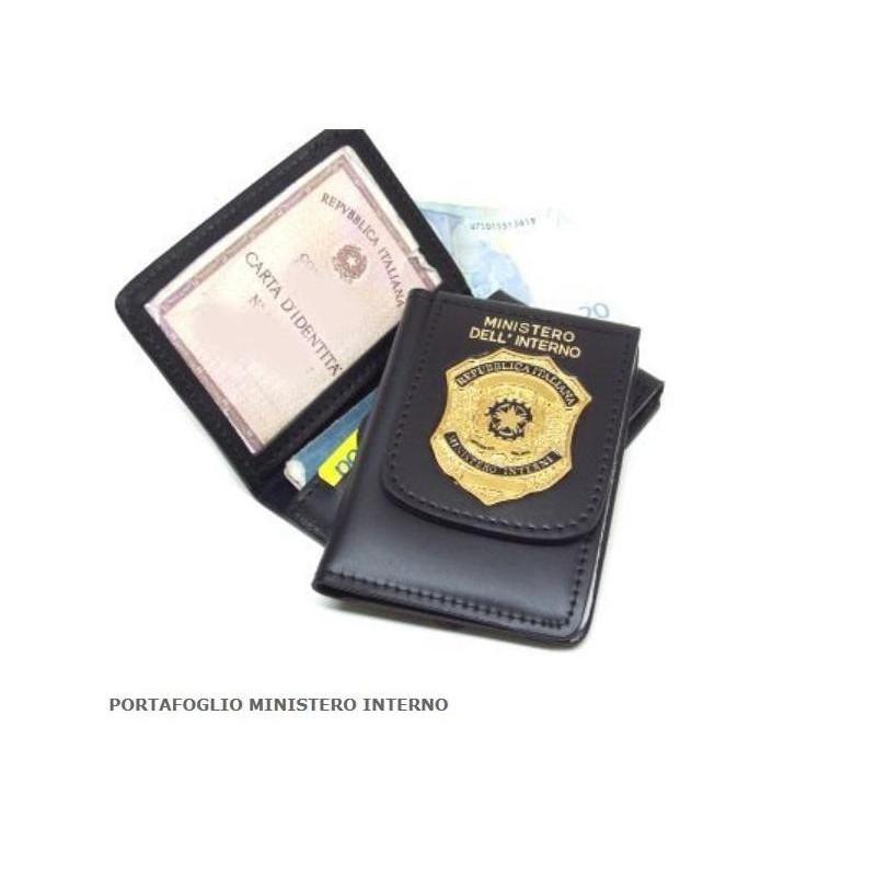 Porta tesserino ministero dell 39 interno romano military for Ministero dell interno