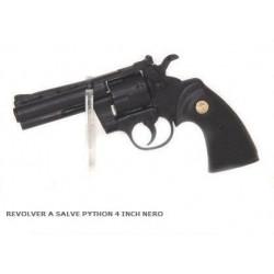 REVOLVER A SALVE PYTHON 4 INCH NERO