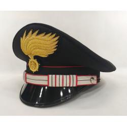 Berretto Luogotenente Carabinieri fiamma opaca vermiglione