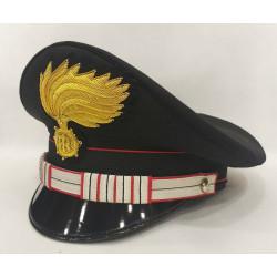 Berretto Luogotenente Carabinieri fiamma lucida vermiglione