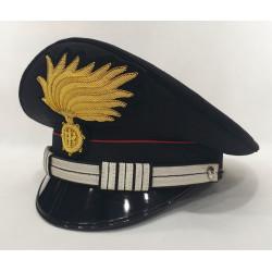 Berretto Maresciallo Capo Carabinieri punte aperte opaca vermiglione