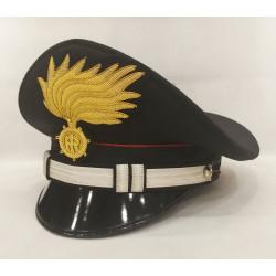Berretto Tenente Carabinieri punte aperte opaca vermiglione