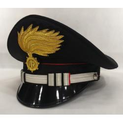 Berretto Tenente Comandante di Compagnia Carabinieri fiamma lucida vermiglione
