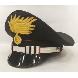 Berretto Tenente Comandante di Compagnia Carabinieri punte aperte opaca vermiglione
