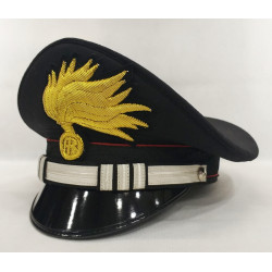 Berretto Capitano Carabinieri punte aperte lucida
