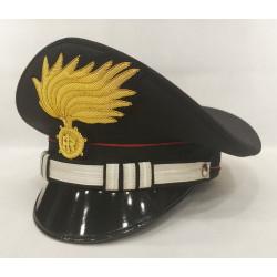 Berretto Capitano Carabinieri punte aperte opaca vermiglione