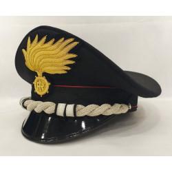 Berretto Maggiore Carabinieri punte aperte opaca vermiglione