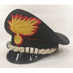 Berretto Colonnello Comandante Carabinieri punte aperte opaca vermiglione
