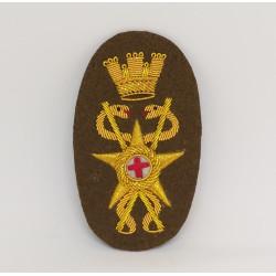 fregio per berretto ufficiale medico esercito italiano