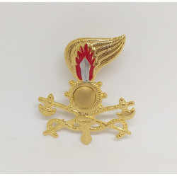 Fregio Genio Guastatori berretto esercito Italiano metallo