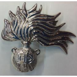 Fregio fiamma metallo berretto Carabinieri