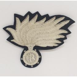 Fregio Fiamma Brigadiere Carabinieri opaca vermiglione punte aperte