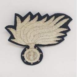 Fregio Fiamma Brigadiere Carabinieri opaca punte aperte