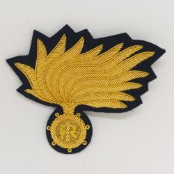 Fregio Fiamma berretto Marescialli e Ufficiali Carabinieri opaca