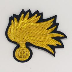 Fregio Fiamma berretto Marescialli e Ufficiali Carabinieri punte aperte opaca con vermiglione