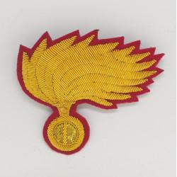 Fregio Fiamma berretto Colonnello Comandante Carabinieri opaca