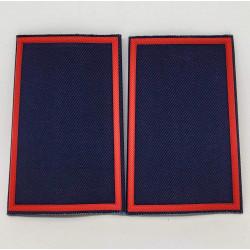 Tubolari plastica blu navy bordo rosso GPG IPS neutri