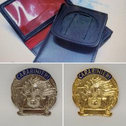 portafoglio carabinieri con placca
