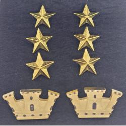 Gradi metallo Colonnello Esercito
